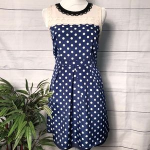 Altar'd State Navy w/White Dots Dress - M